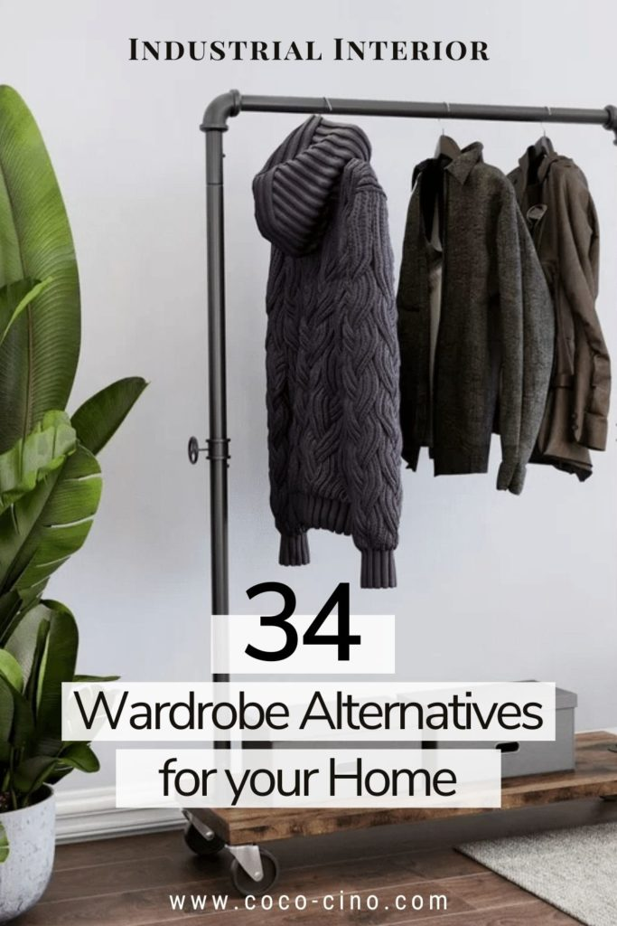 34 functional & stylish clothes racks_Industrial Clothing Rack