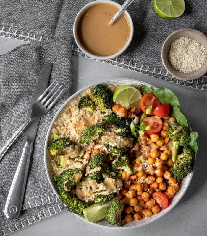 Buddha Bowl_Roasted Broccoli Bowl with Sunbutter Sauce