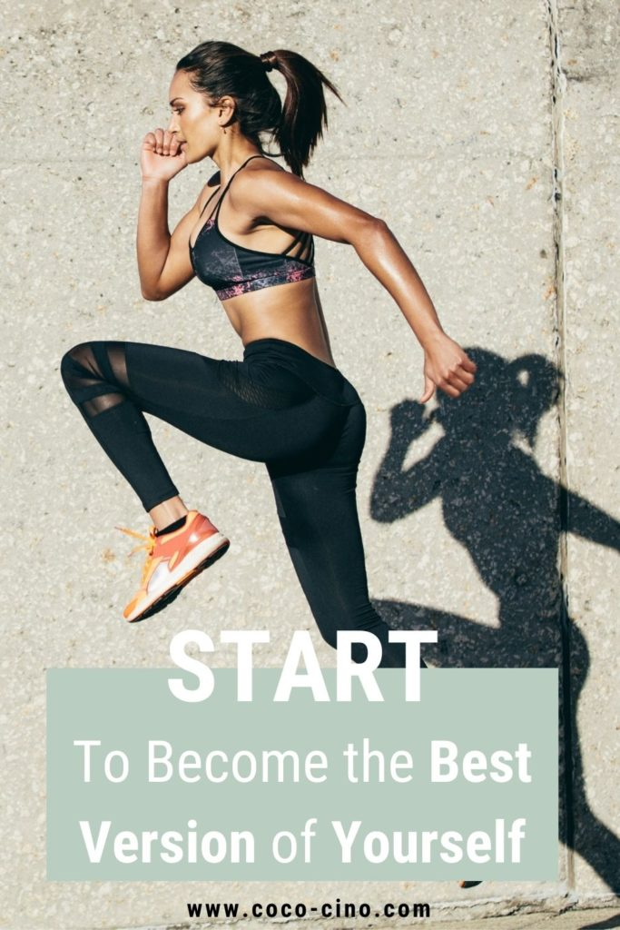 38 Ways to Become the Best Version of Yourself_women in sport outfit jumping in the sun in front of a wall