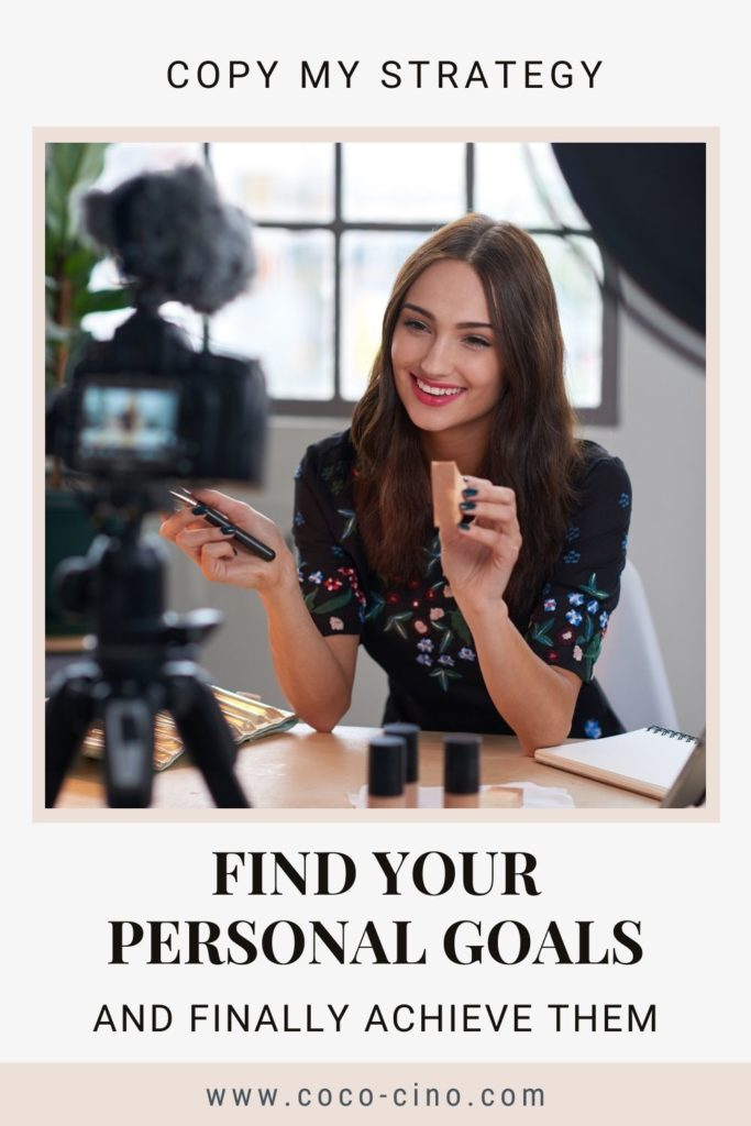 Ultimate Guide to Goal Setting_girl explaining make up in front of a camera