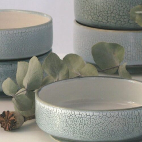 Beautiful Bowl Sets for Your Healthy Breakfasts_Light Blue Ceramic Bowl