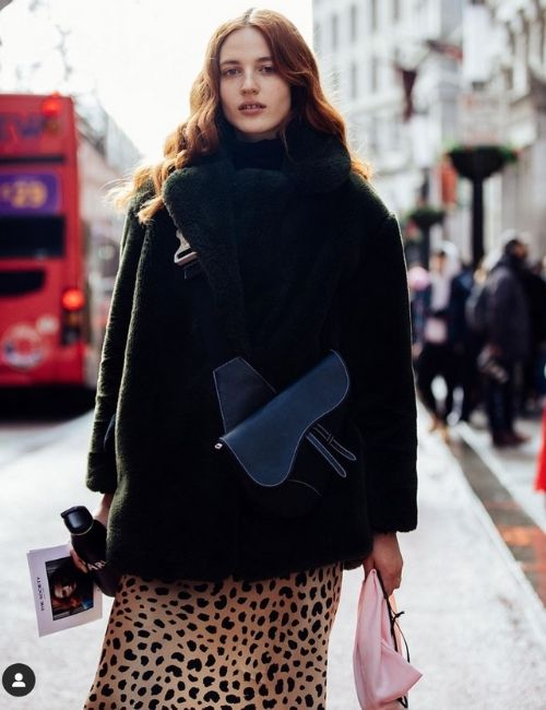 Wonderful leopard skirt_Must-Have_Leopard Skirt_Animal Print_Girl with Leo Skirt and Winter Jacket