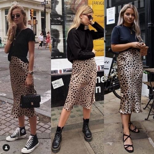 Beautiful leopard skirt_Must-Have_Leopard Skirt_Animal Print_Three Girls with Leo Skirt and black Top