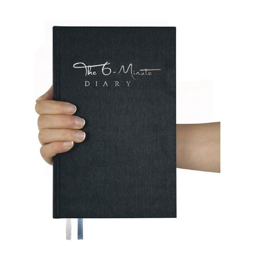 Productivity Planner_The six Minute Diary_Gratitude Journal_Minimalist Planner_black