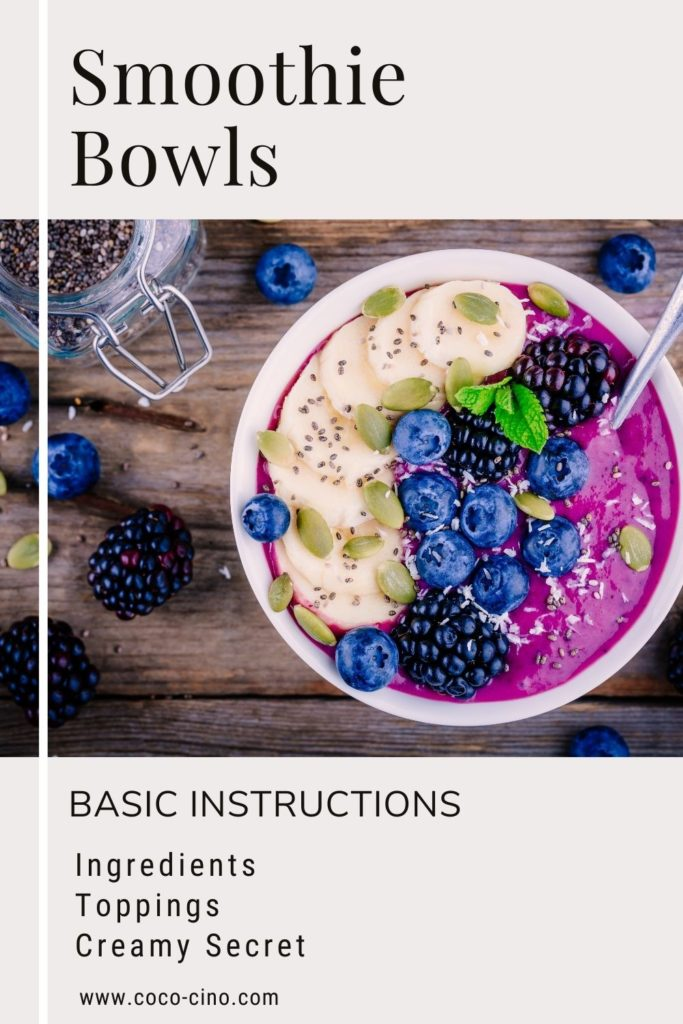 Smoothie Bowl Guide_How to make perfect smoothie bowls_violet berry bowl with banana, blueberries and raspberries