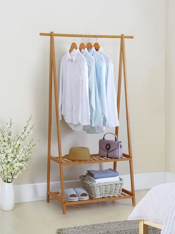 Clothing Rack_Bamboo Clothes Rack