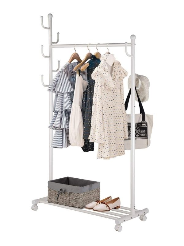 34 functional & stylish clothes racks_Simple three in one Clothes Rack