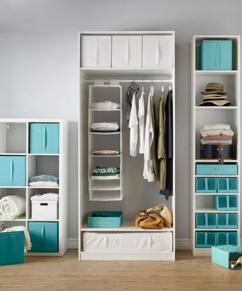 Inspirations & Storage Essentials_Ikea Style_Hanging Compartments_white_turquois