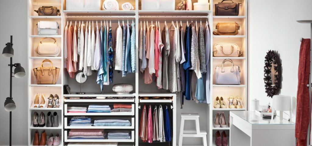 Stylish open Wardrobe_Organised Wardrobe_Dressing Area_Inspiration