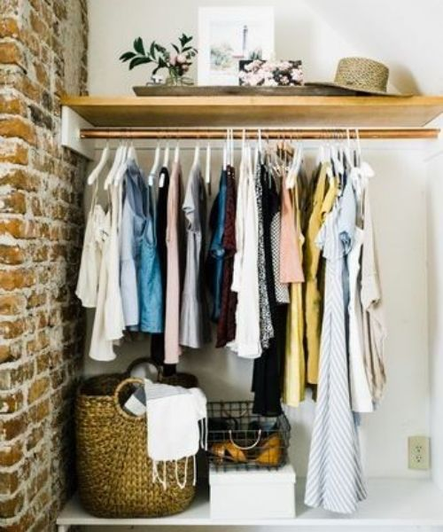 Inspirations & Storage Essentials for an organised and stylish wardrobe_Open wardrobe_Laundry Basket_braided_natural brown