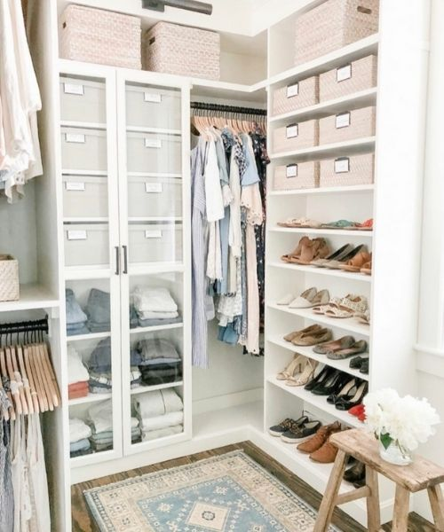 Inspirations & Storage Essentials for an organised and stylish wardrobe_Small Closet_white_rose