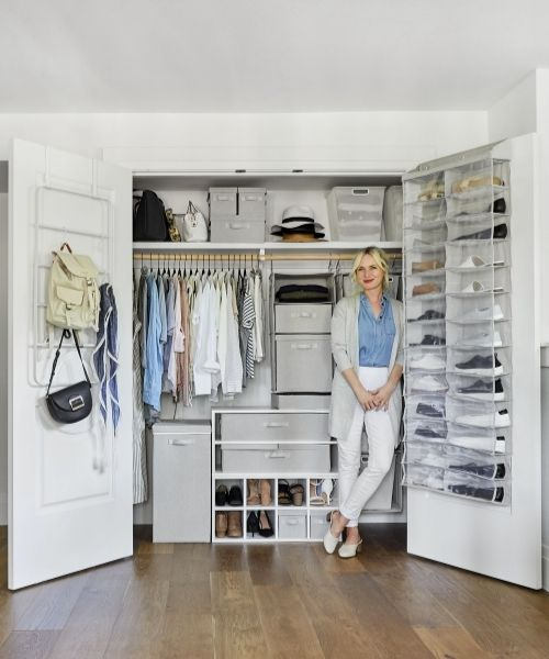 Inspirations & Storage Essentials for an organised and stylish wardrobe_Storage Boxes and Hanging Compartments_white