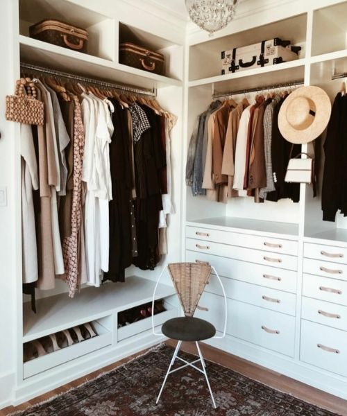 Inspirations & Storage Essentials_Organised Wardrobe_Dressing Area_natural colours