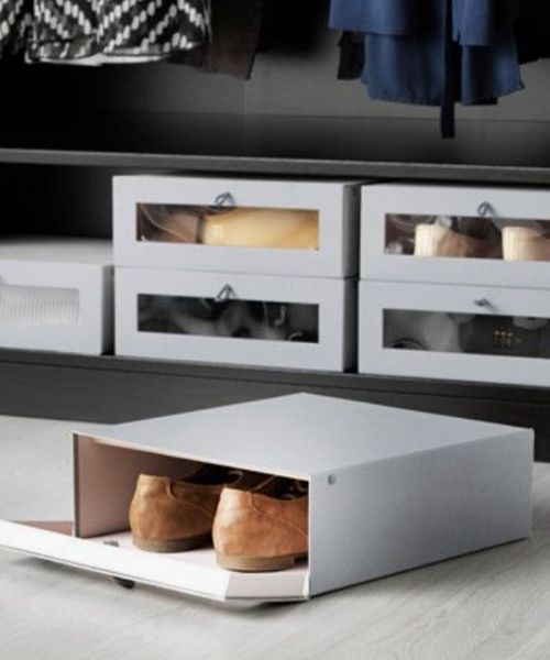 Inspirations & Storage Essentials for an organised and stylish wardrobe_shoe storage boxes