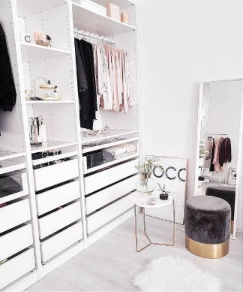 Inspirations & Storage Essentials for an organised and stylish wardrobe_Luxury Dressing Area_Boutique Style