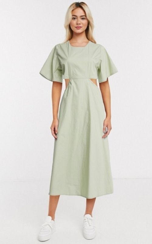 Beautiful Dresses for Mild Summer Evenings_Summer Dresses_Mint Dress with Cut-outs