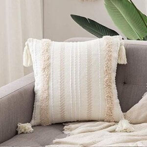 Boho Pillow with Fringes_soft_white_beige