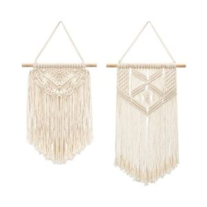 Boho Wall Decoration_Hanging Wool Decoration_Wall Art_beige_Set of two different pieces
