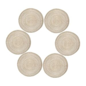 Boho glass coaster_beige_round