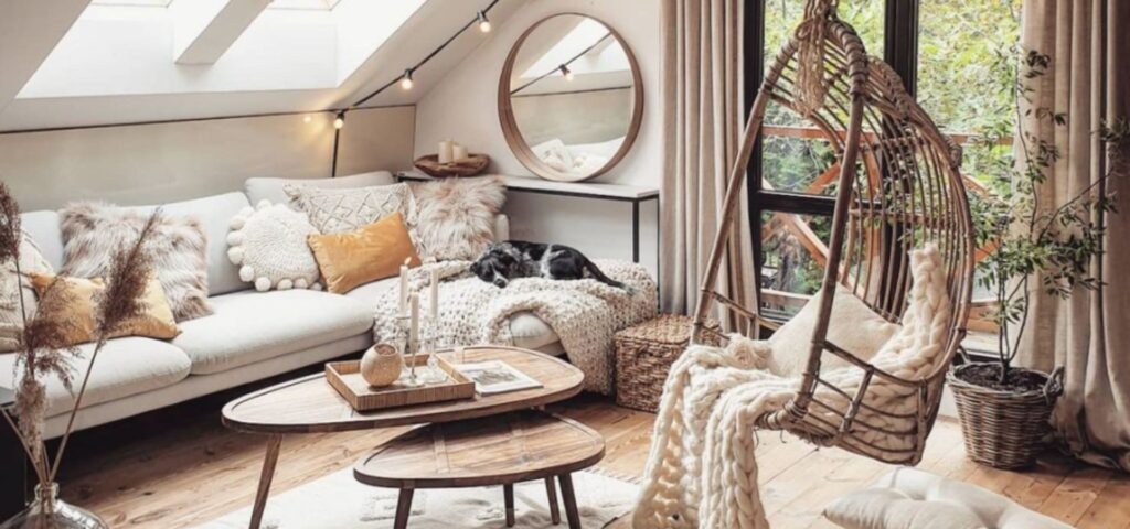 Living Room in Boho Style