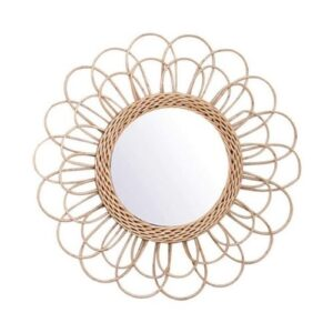 Boho Mirror_Natural brown Material_Flower Style
