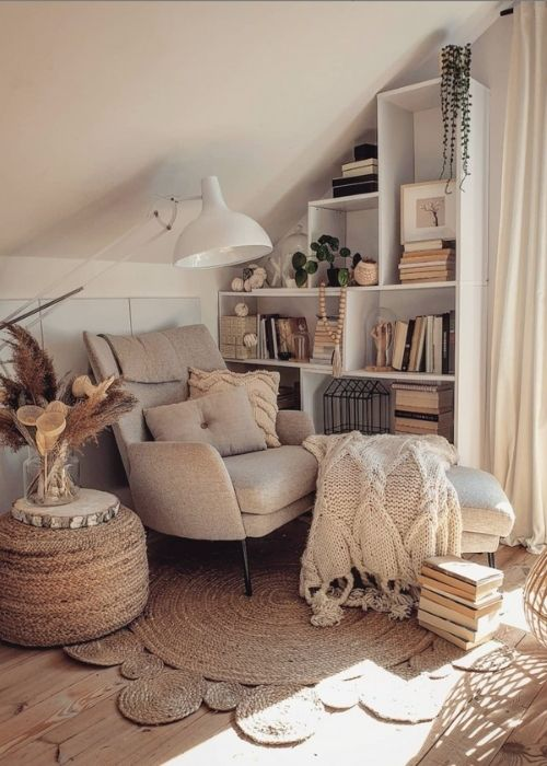 Natural Decoration_Reading Corner with Big Chair