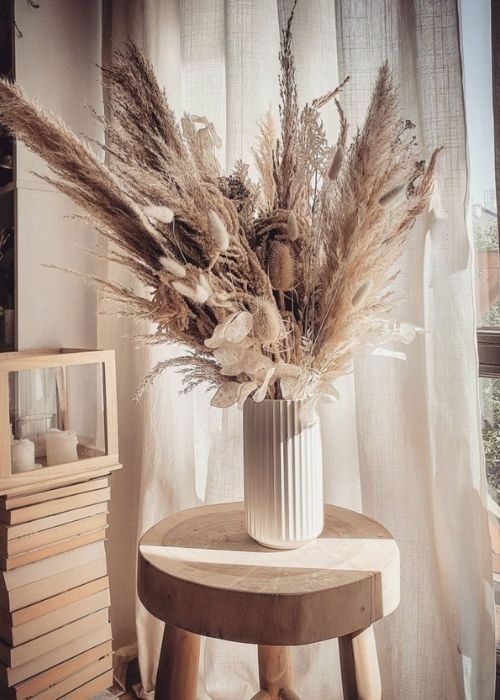 Boho Decoration_Natural Decoration_Vase with Dry Flowers