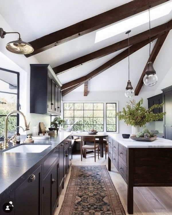Interior Design_black and white Interior_Kitchen and Dining Room_Modern Farm House
