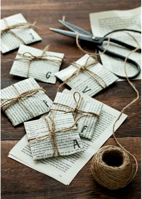 mini presents in music sheet wrapping