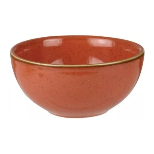 Bowl Set_Porcelaine_rustic_round_brown_red