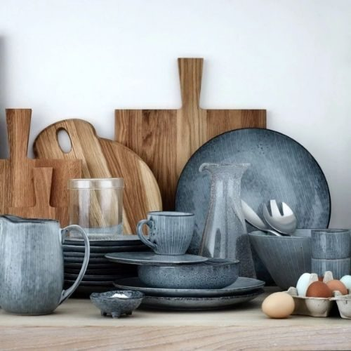 Beautiful Bowl Sets for Your Healthy Breakfasts_Bowl Set_Porcelaine_rustic_stripes_round_blue