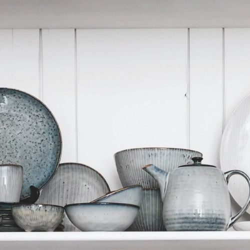 Beautiful Bowl Sets for Your Healthy Breakfasts_Bowl Set_Porcelaine_rustic_stripes_round_grey
