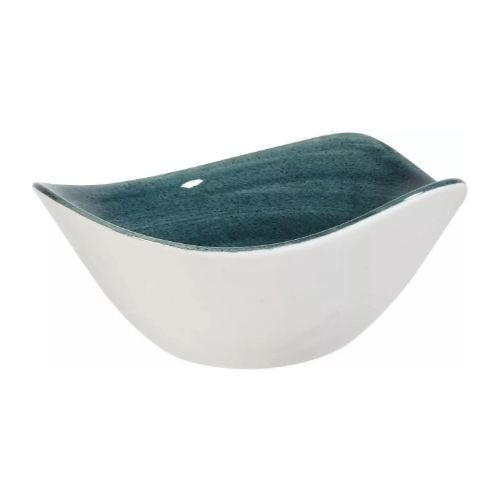 Beautiful Bowl Sets_Porcelaine_rustic_triangular in brown-blue