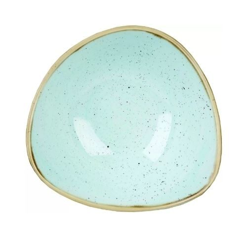 Beautiful Bowl Sets_Porcelaine_rustic_triangular in brown and light blue