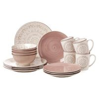 Kitchen Essentials_Dinnerware Set_rose_white_exeptional pattern