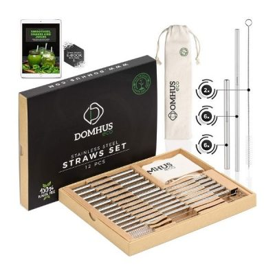 Gift GuideSustainable Gifts_Reusable Straw Set with ebook