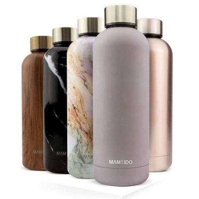 Gift Guide for Best Friend_Sustainable Gifts_Five Water Bottle with golden Lid
