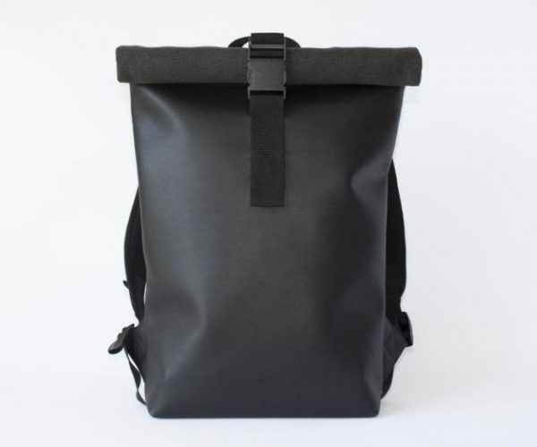 Gifts for boyfriend_Black Backpack with roll-top
