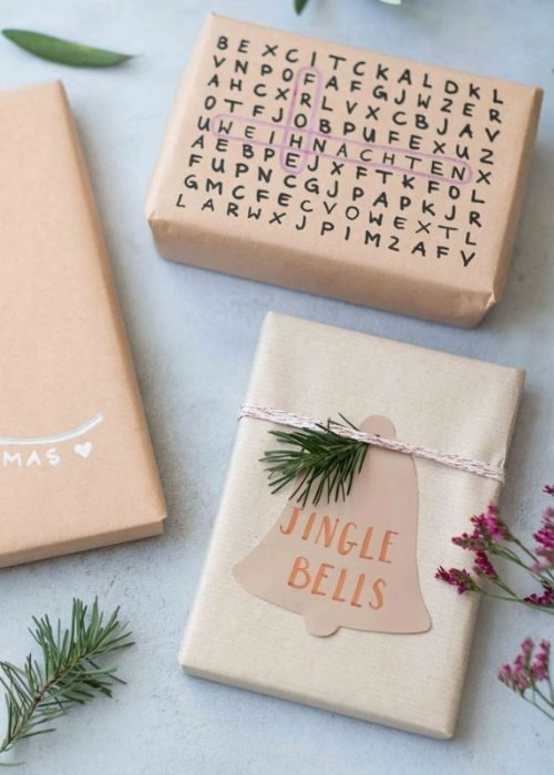 sustainable christmas packaging word search