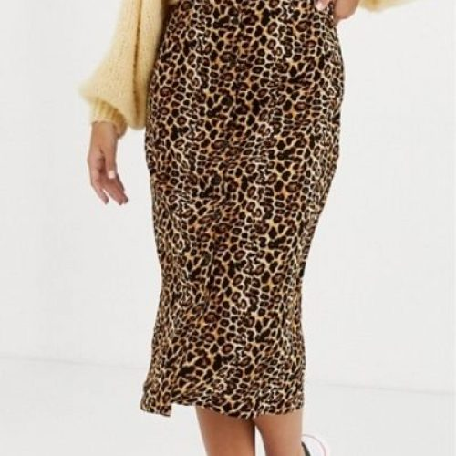 Leopard Skirt_Animal Print in brown, yellow and black