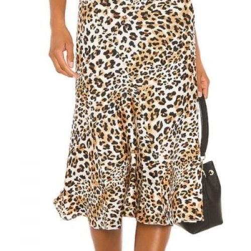 Leopard Skirt_Animal Print in brown, yellow, black and white