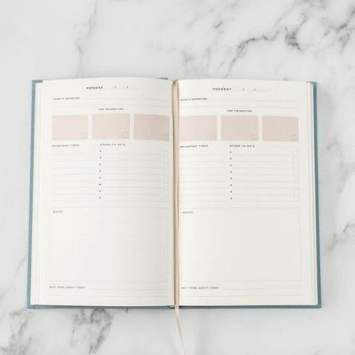 Productivity Planner_Great Things Ahead_Weekly Planner_One day at a time_Lifestyle Planner_daily planning