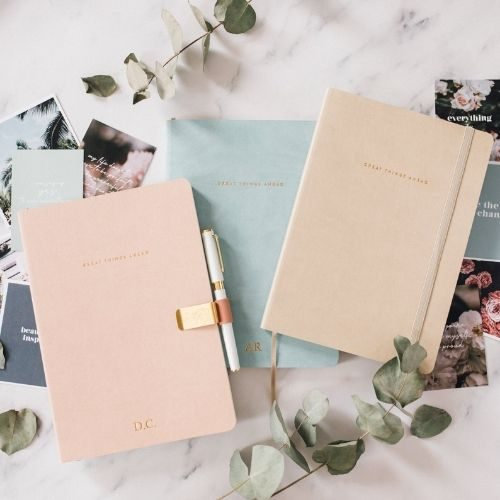 Productivity Planner_Great Things Ahead_Weekly Planner_three different colours_rose_cream_light blue
