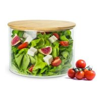 Kitchen Essentials_Salat Bowl out of Glass with wooden Lid