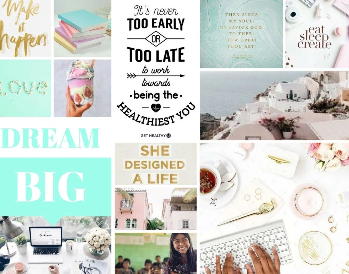 Vision Board_Mood Board_Digital Board_white_turquois