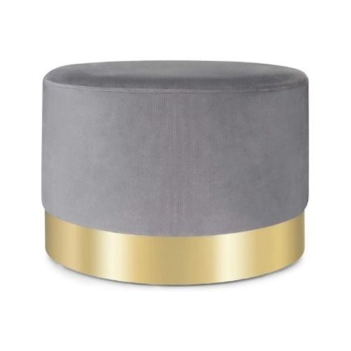 Dressing Area_Chair_Pouf_grey_golden