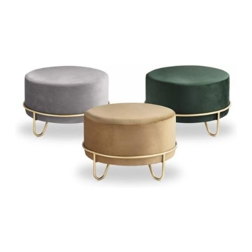 Dressing Area_Chair_Pouf_grey_green_brown_golden
