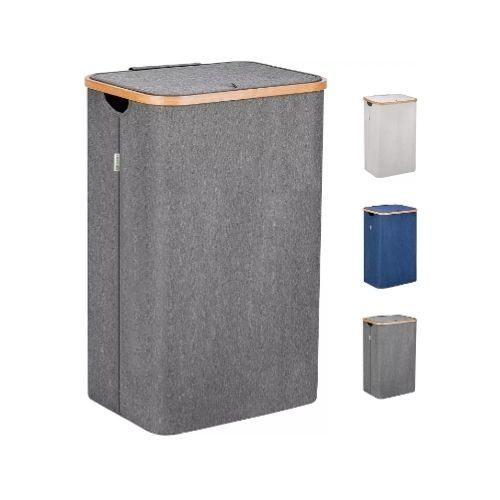 Laundry Basket_fabric_grey_with lid